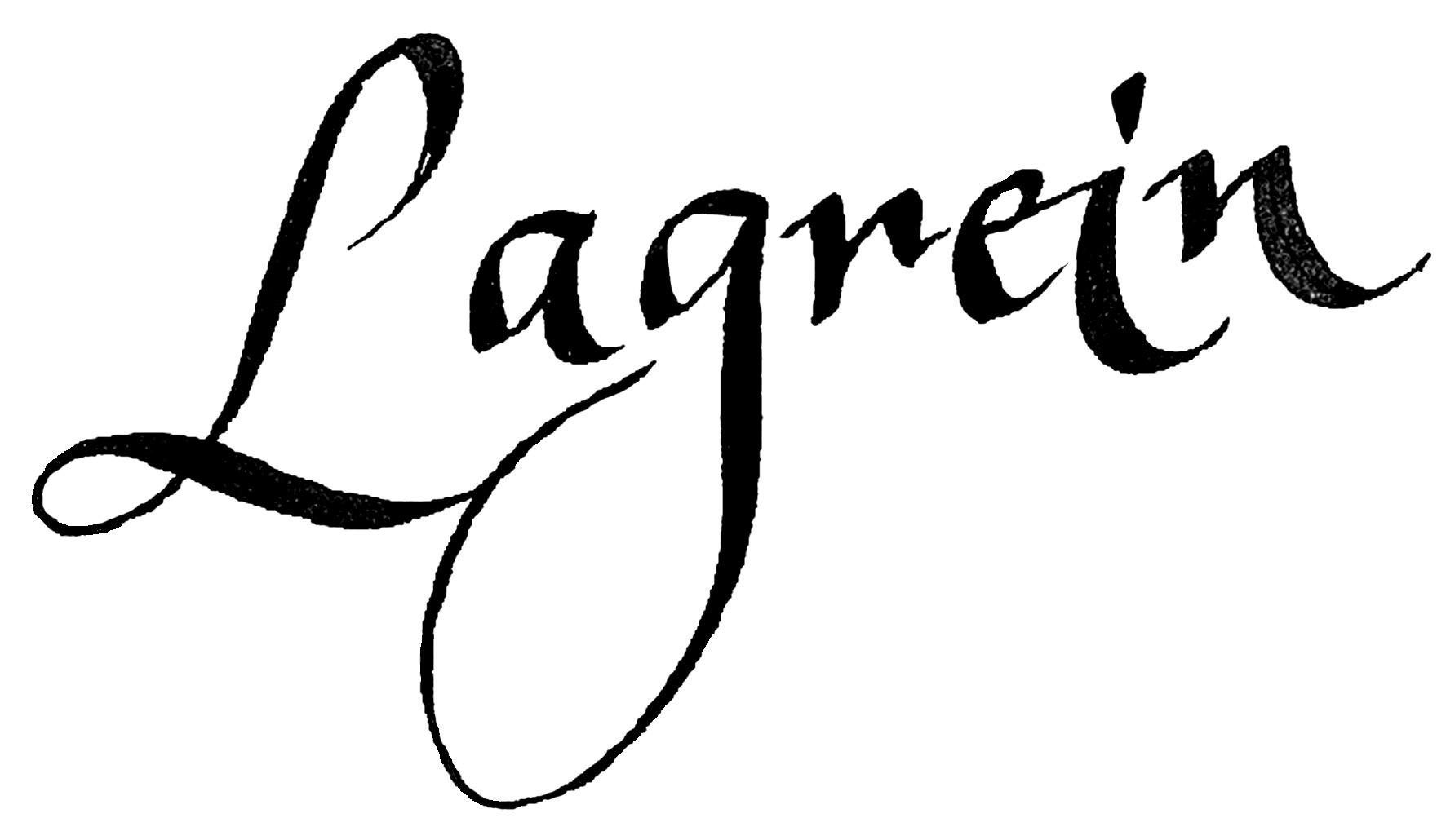 Lagrein calligrafia